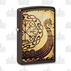 Zippo Brown Viking Warship Lighter