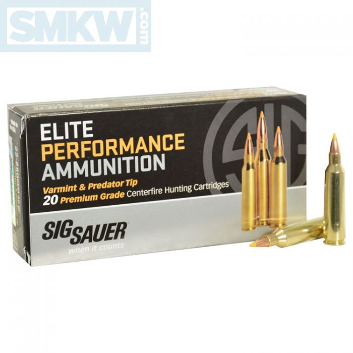sig sauer hunting 22 250 remington 40 grain tipped hollow point 20 rounds