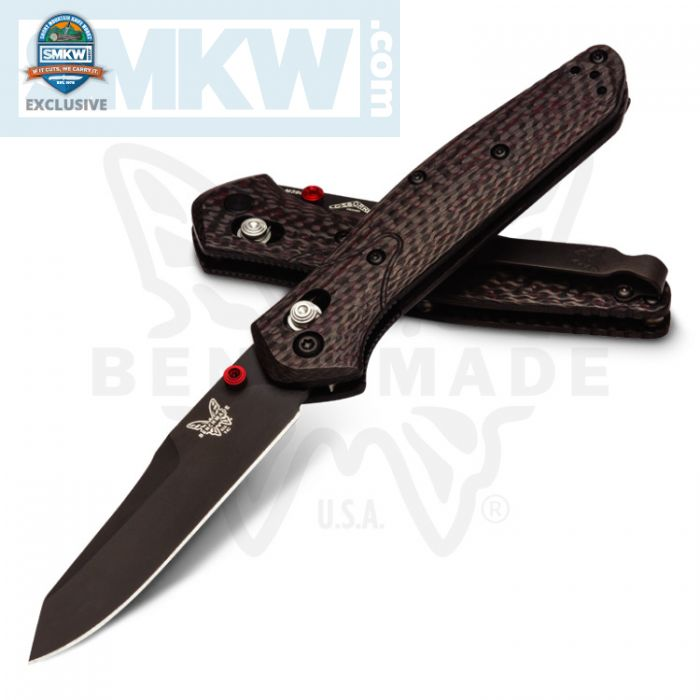 Benchmade Osborne 940 with Red Resin Carbon Fiber Handles