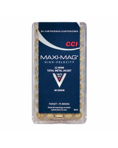 CCI Maxi-Mag HV 22 Winchester Magnum Rimfire 40 Grain Total Metal Jacket 50 Rounds