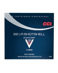 CCI Shotshell 22 LR 31 Grain #12 Shot 20 Rounds