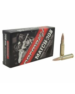 Norma USA Match 308 Winchester 168 Grain MatchKing Hollow Point Boat Tail 20 Rounds