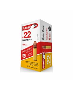 Aguila Super Extra High Velocity 22 Long Rifle 40 Grain Plated Lead Round Nose 500 Rounds