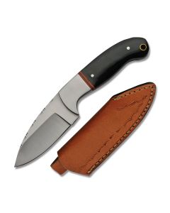 Szco Filework Hunter Stainless Steel Blade Horn Handle