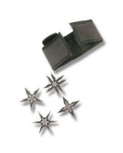 Black 4pc Throwing Star Set