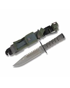 """M9 Bayonet with Black Synthetic Handles and Stainless Steel 7.75"""" Clip Point Plain Edge Blades Model 210997"""