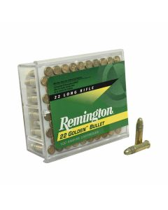 Remington Golden Bullet 22 LR 40 Grain High Velocity Plated Lead Round Nose 100 Rounds