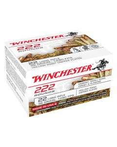 Winchester 22 Long Rifle 36 Grain Plated Lead Hollow Point 222 Rounds