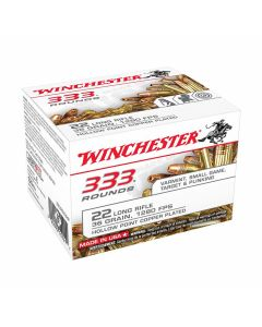 Winchester 22 Long Rifle 36 Grain Plated Lead Hollow Point 333 Rounds