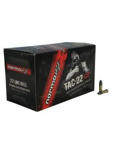 Norma USA TAC 22 Long Rifle 40 Grain Lead Round Nose 50 Rounds