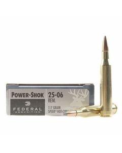 Federal Power-Shok 25-06 Remington 117 Grain Speer Hot Cor-SP 20 Rounds