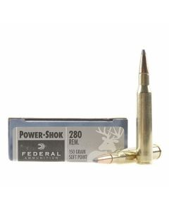 Federal Power-Shok 280 Remington 150 Grain Soft Point 20 Rounds