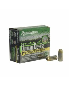 Remington Ultimate Defense Compact Handgun 380 ACP 102 Grain Jacketed Hollow Point 20 Rounds