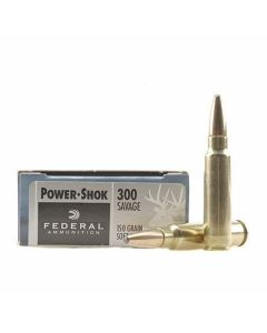 Federal Power-Shok 300 Savage 150 Grain Soft Point 20 Rounds