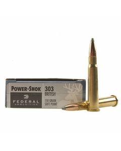 Federal Power-Shok 303 British 150 Grain Soft Point 20 Rounds