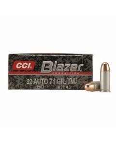 CCI Blazer 32 ACP 71 Grain Total Metal Jacket 50 Rounds