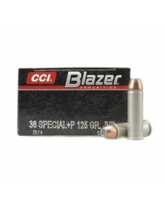 CCI Blazer 38 Special+P 125 Grain Jacketed Hollow Point 50 Rounds