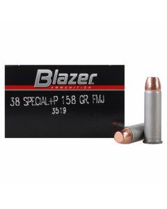 CCI Blazer 38 Special+P 158 Grain Full Metal Jacket 50 Rounds