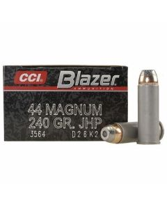 CCI Blazer 44 Magnum 240 Grain Jacketed Hollow Point 50 Rounds