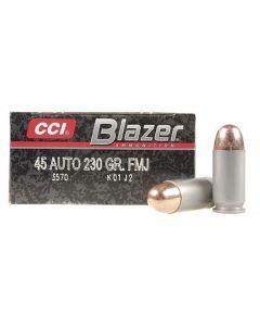 CCI Blazer 45 ACP 230 Grain Full Metal Jacket 50 Rounds