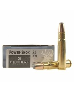 Federal Power-Shok 35 Remington 200 Grain Soft Point Round Nose 20 Rounds