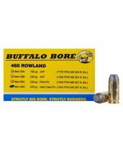 Buffalo Bore 460 Rowland 255 Grain Hard Cast Lead Flat Nose 20 Rounds