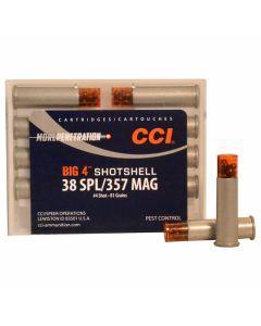 CCI Big 4 Shotshell 38 Special/357 Magnum 81 Grains #4 Shot 10 Rounds