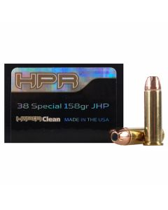 HPR HyperClean 38 Special 158 Grain Hornady Jacketed Hollow Point 50 Rounds