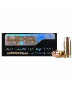 HPR HyperClean 40 S&W 180 Grain Total Metal Jacket 50 Rounds