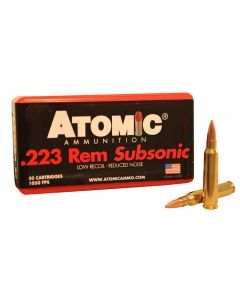 Atomic 223 Remington Subsonic 77 Grain Hollow Point Boat Tail 50 Rounds