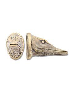 Swan Lake Knives Bronze Pike Head Pommel #3 Model 440004B
