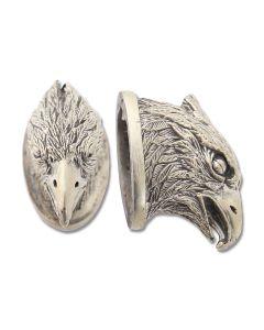Swan Lake Knives Nickel Silver Eagle Head Pommel #4 Model 440005N