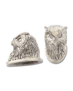 Swan Lake Knives Nickel Silver Owl Head Pommel Model 440155N