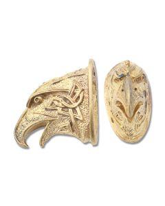 Swan Lake Knives Bronze Hawk Head Pommel with Celtic Theme Model 440183B