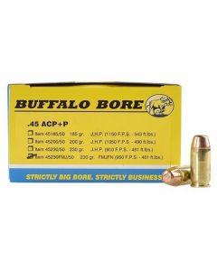 Buffalo Bore 45 ACP 230 Grain Full Metal Jacket Flat Base 20 Rounds
