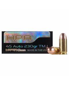 HPR HyperClean 45 ACP 230 Grain Total Metal Jacket 50 Rounds