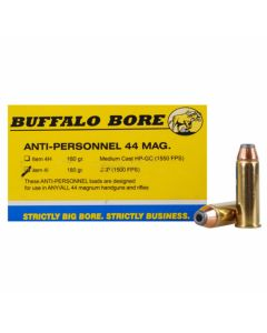 Buffalo Bore 44 Remington Magnum 180 Grain Jacketed Hollow Point 20 Rounds