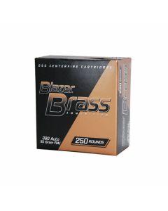 CCI Blazer Brass 380 ACP 95 Grain Full Metal Jacket 250 Rounds