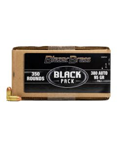 Blazer Brass Black Pack 380 ACP 95 Grain Full Metal Jacket 350 Rounds