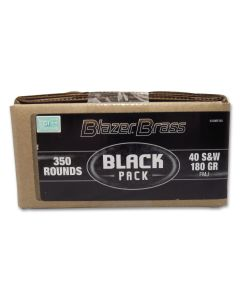 Blazer Brass Black Pack 40 S&W 180 Grain Full Metal Jacket 350 Rounds