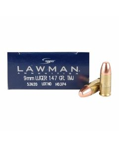 CCI Speer Lawman 9mm 147 Grain Total Metal Jacket 50 Rounds