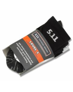 "5.11 Level One 9"" Sock- Black"