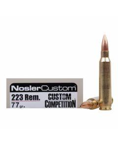Nosler Match Grade 223 Remington 77 Grain Custom Competition 20 Rounds