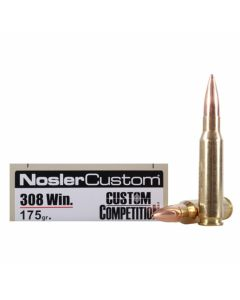 Nosler Match Grade 308 Winchester 175 Grain Custom Competition 20 Rounds