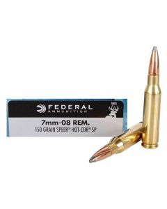 Federal Power-SHok 7mm-08 Remington 150 Grain Speer Hot Cor-SP 20 Rounds