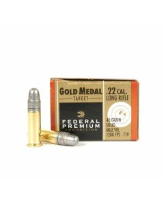 Federal Premium Gold Medal 22 LR 40 Grain Solid Point 500 Rounds