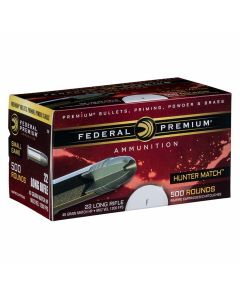 Federal Premium 22 Long Rifle 40 Grain Match Tip Hollow Point 500 Rounds