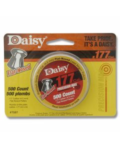 Daisy .177 Caliber (4.5mm) 500ct Flat-Nosed Pellet Tin
