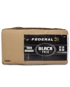 Federal Black Pack 22 Long Rifle 36 Grain Copper Plated Hollow Point 1600 Rounds