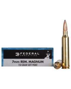 Federal Power-Shok 7mm Remington 150 Grain Soft Point 20 Rounds